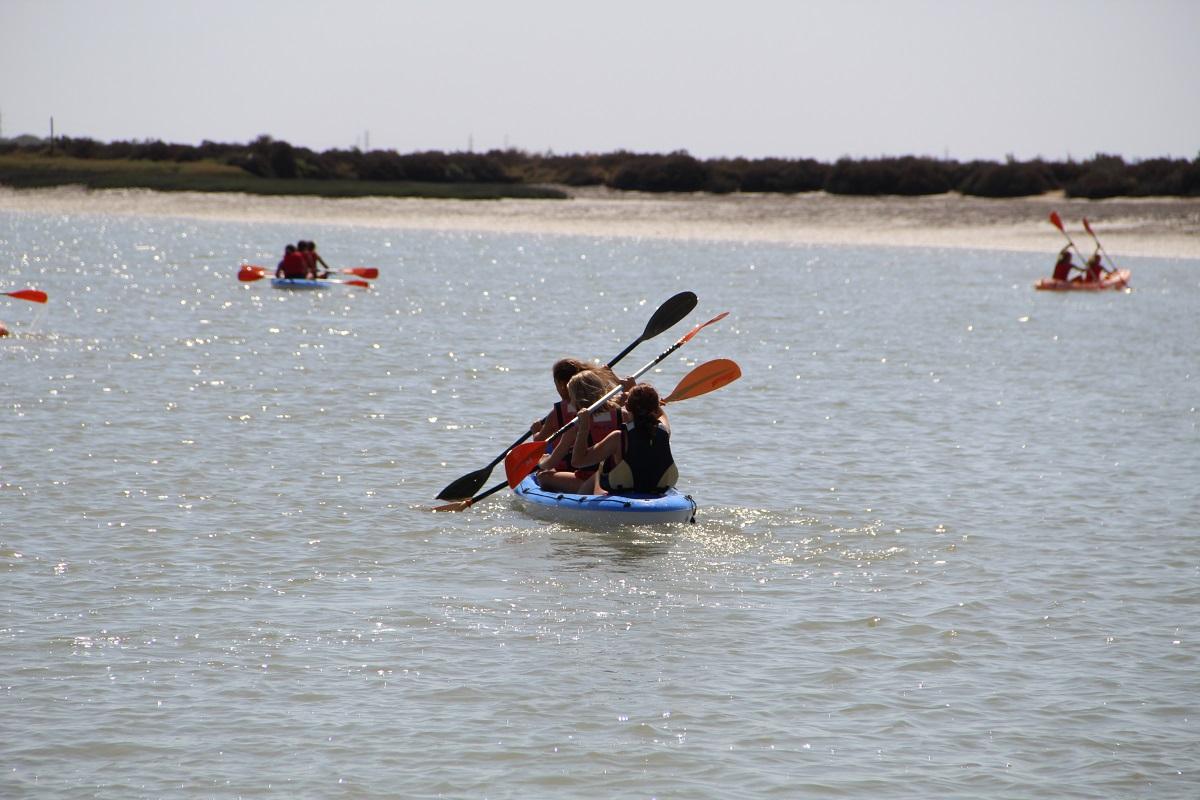 Alquiler de kayaks en el Parque de los Toruños en El Puerto de Santa María