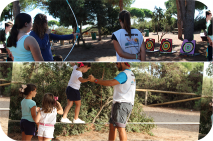 Taller de tiro con arco y equilibrio en el Parque de los Toruños